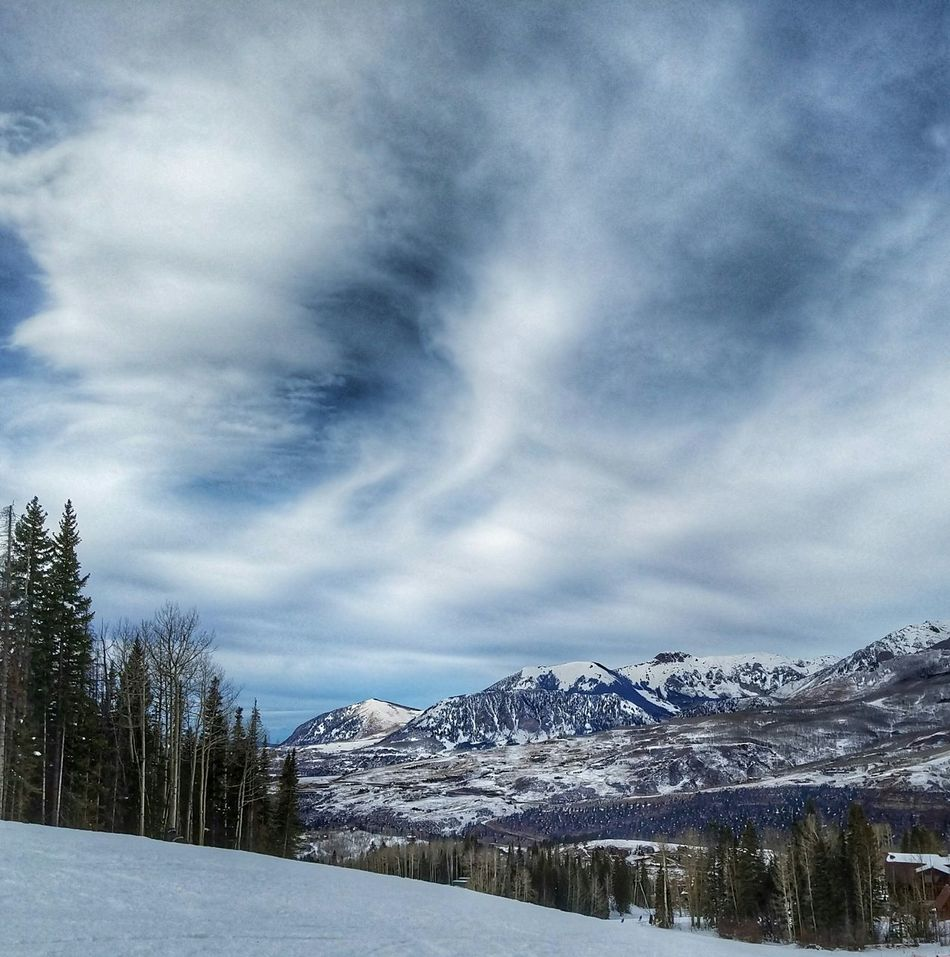 Telluride, CO Snow Winter Cold Temperature Tree Beauty In Nature Cloud - Sky Scenics Nature Mountain Sky Landscape Tranquil Scene Dramatic Sky No People Outdoors Day