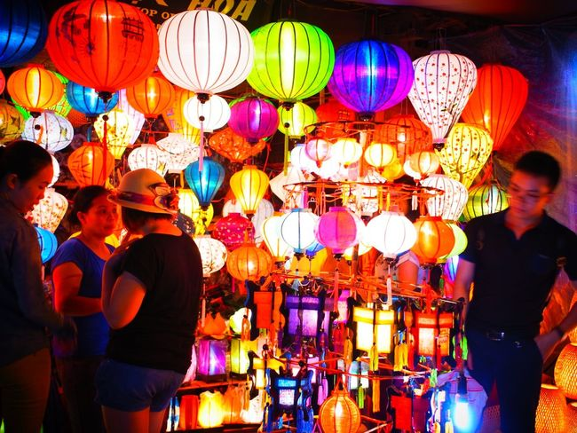 Lantern Hoi An Hoian, Vietnam Vietnam Lighting Equipment Illuminated Multi Colored Night Old Town Histric Place Lifestyles Celebration