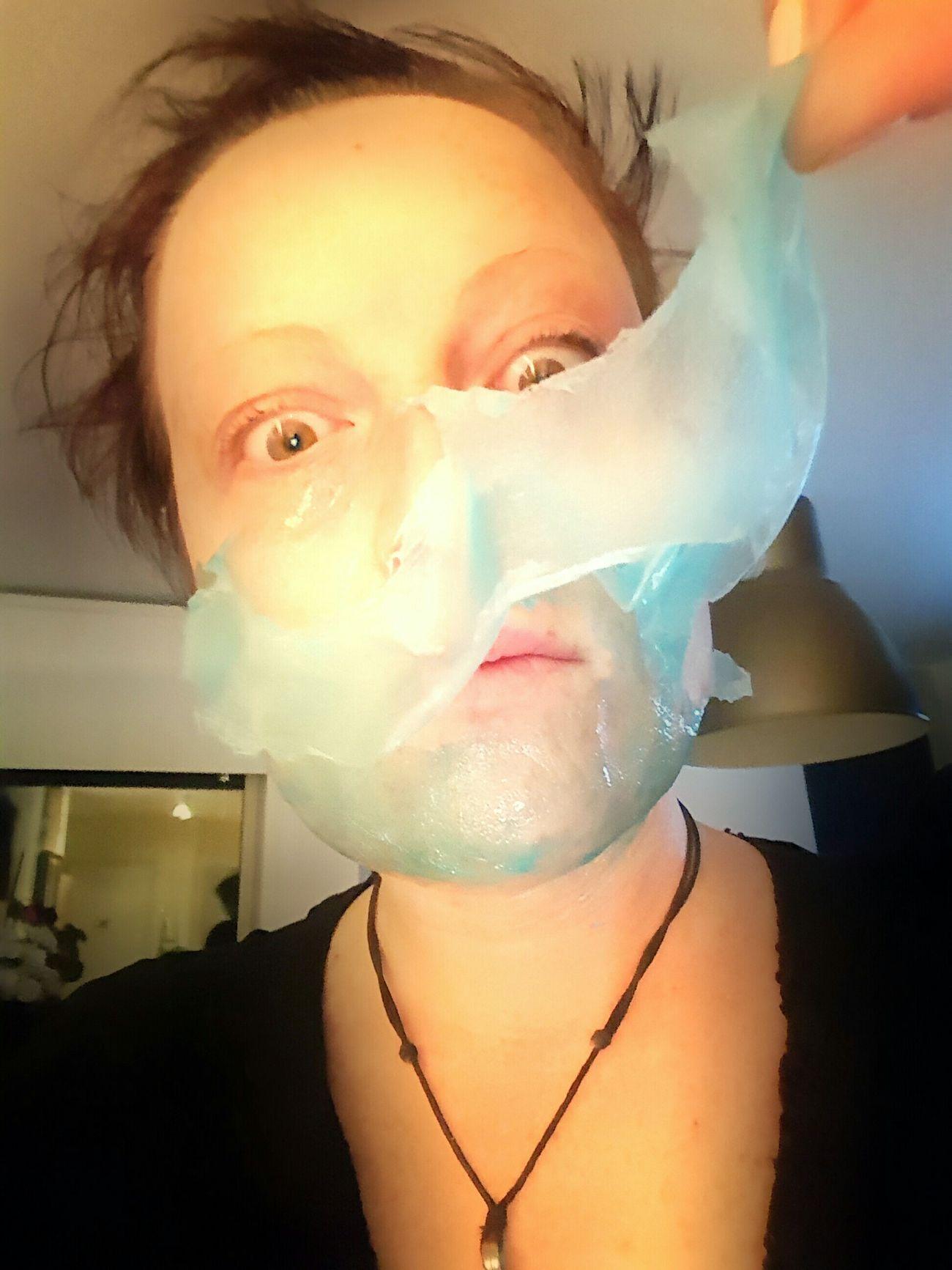 Gesichtsmaske Gespenster Schnappschuss Beauty Crazy Moments