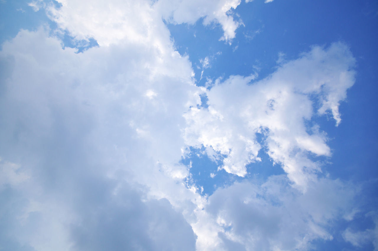cloud - sky, sky, beauty in nature, nature, low angle view, full frame, backgrounds, scenics, day, no people, blue, tranquility, sky only, outdoors