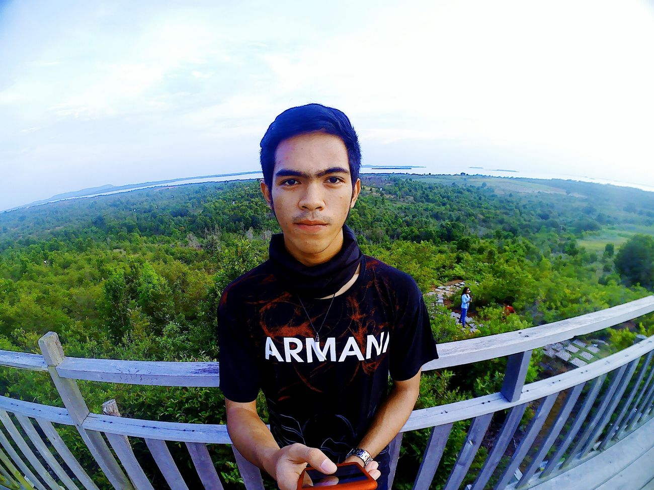 Alam menunggu untuk di jelajah.. like my instagram : yogaanugrah19 Sky Railing Front View Casual Clothing Cloud - Sky Looking At Camera T-shirt Adult Outdoors People Day Adults Only Only Men Nature Young Adult Young Men Yellowclaw First Eyeem Photo