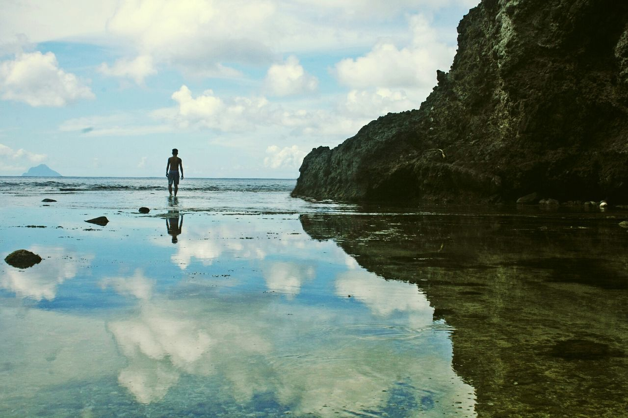 Batanes Islands, Philippines ~ The Traveler - 2015 EyeEm Awards EyeEm Best Shots Travel Adventure Landscape Silhouettes EyeEm Nature Lover Nature On Your Doorstep Light And Shadow Traveling