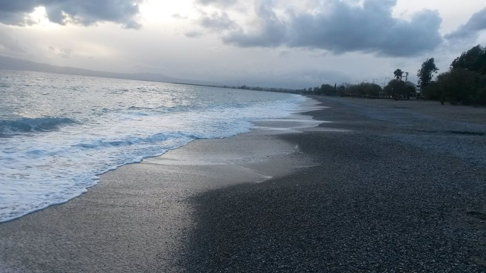 Beach Beauty In Nature Calm Cloud Cloud - Sky Cloudy Coastline Day Horizon Over Water Idyllic Nature No People Non-urban Scene Outdoors Remote Rippled Scenics Sea Shore Sky Tranquil Scene Tranquility Water Wave Weather