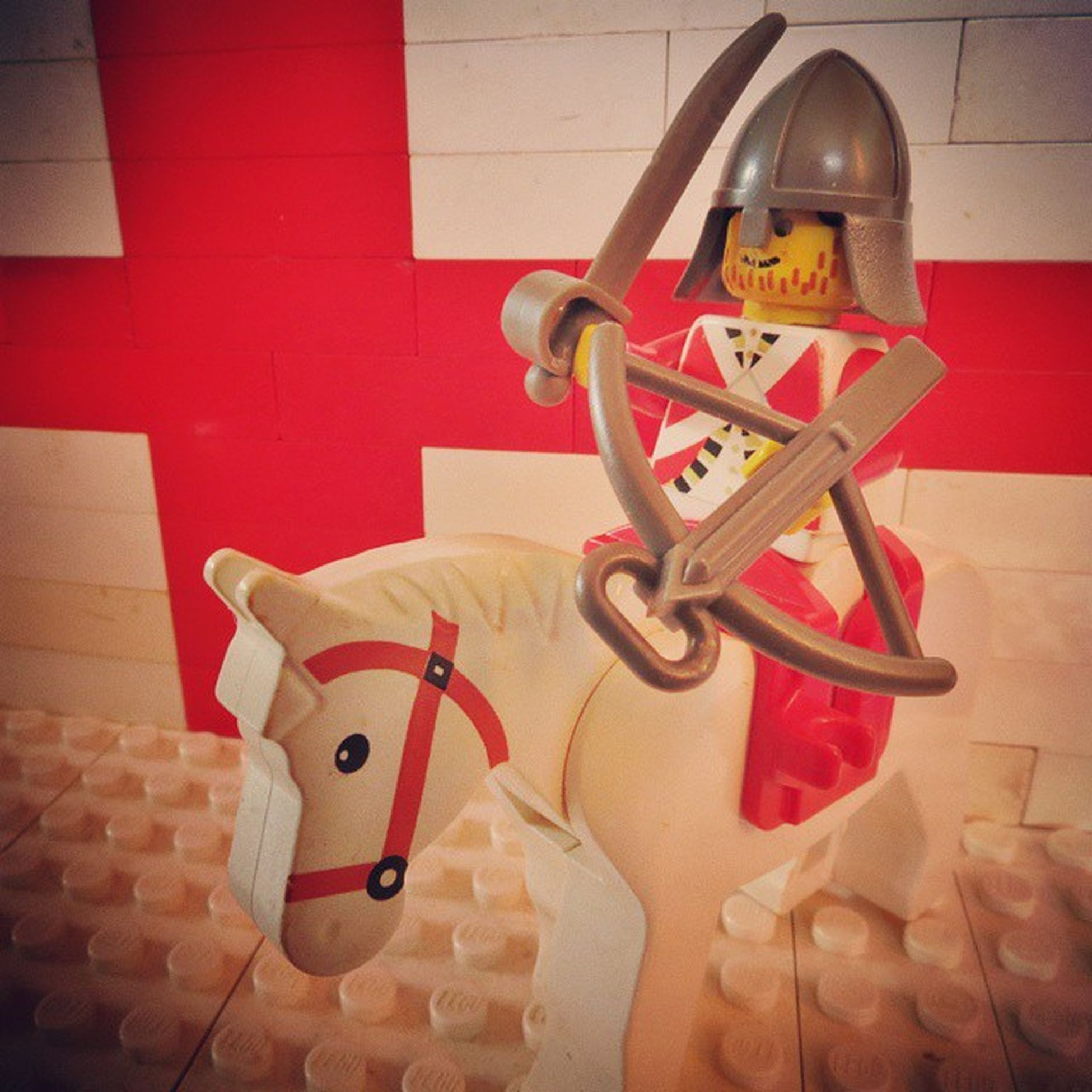 The English knight may be a little over zealous with both a sword and a crossbow, but its just because he's ready to go into battle against Wales tonight! So excited for the Rbs6nations !!!