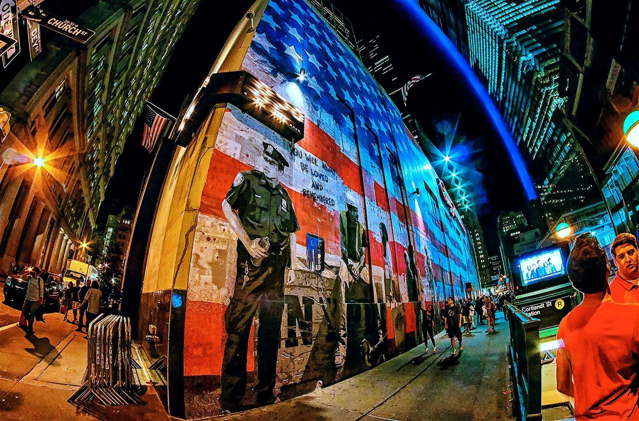 NeverForget 9-11 Streetart Memorial NYCImpressions Manhattan Newyorkcity Newyork Mural September11