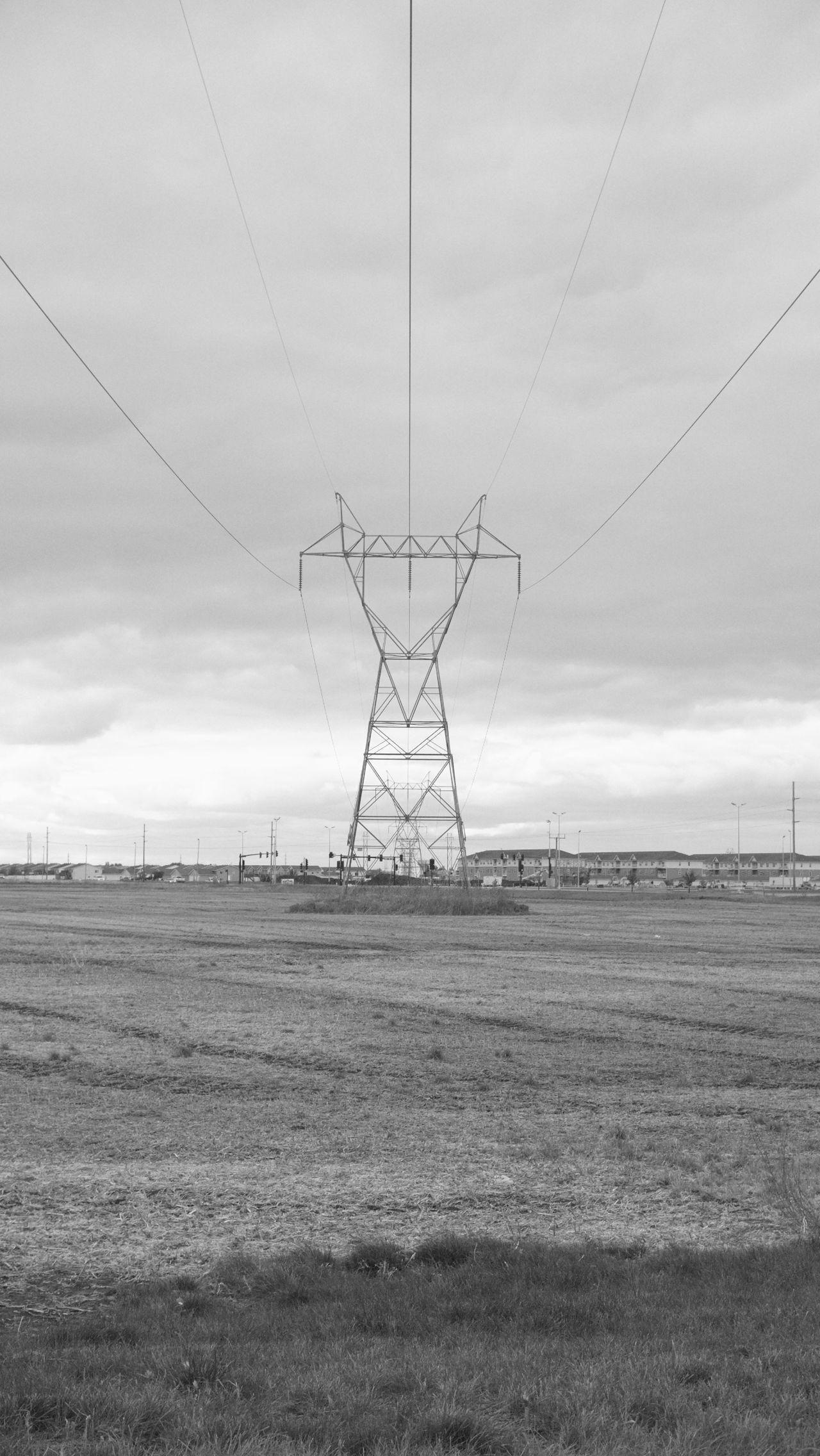 South Fargo, North Dakota / Summer 2016 Agriculture Cable Cloud - Sky Day Electricity  Electricity Pylon Fargo Field Fuel And Power Generation Landscape MidWest Monochrome Nature No People North Dakota Outdoors Power Line  Power Supply Rural Scene Sky South Fargo