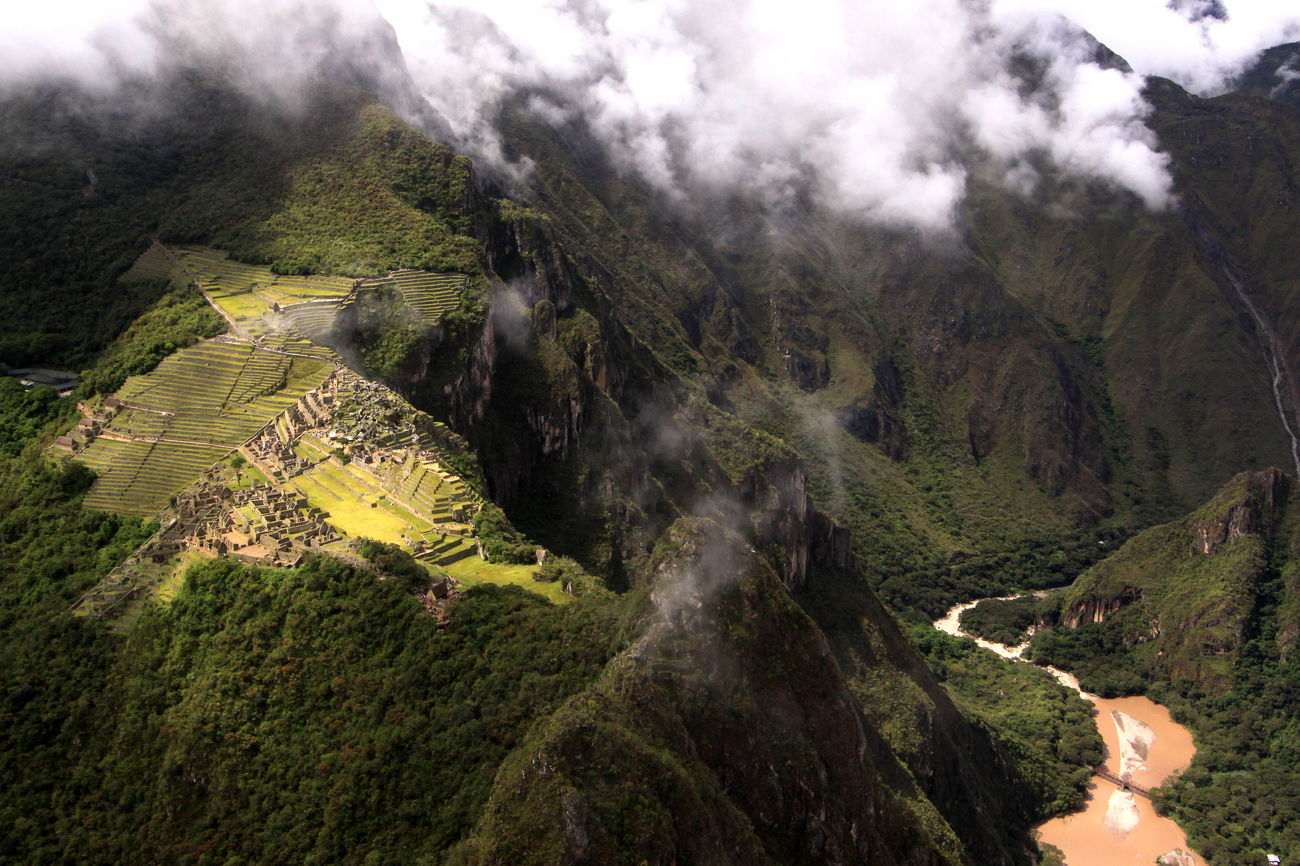 Machu Picchu from Huayna Picchu, Urubamba River valley, Peru www.robertdowniephotography.com Love Life, Love Photography Abandoned Andes City Cliff Clouds Dry Forest Green Inca Lost Machu Picchu Mountain Mountains Peru River Ruins Scenics Steep Stone Temple Terraces Travel Trees Valley Walls