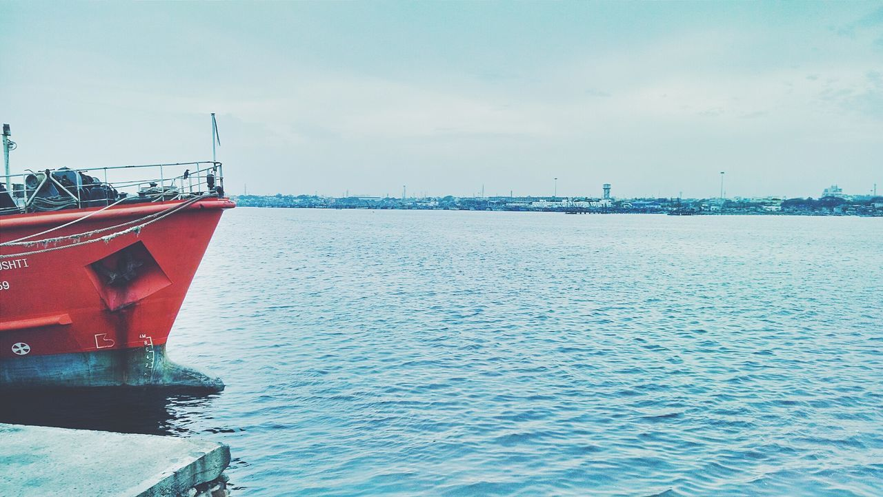 Scenic view of a cargo ship standing still in sea at the n4 beach .. 📷😍 Cargo Ship Ship Beach Sea Water_collection Water Red Nautical Vessel Horizon Over Water Exploring Chennai N4 Beach Shipyard Urban Landscape Tadaa Community Tamilnadu EyeEm Nature Lover Mobilephotography Beach Photography Landscape_Collection Seascape Sea And Sky Sky Photooftheday Bay Of Bengal