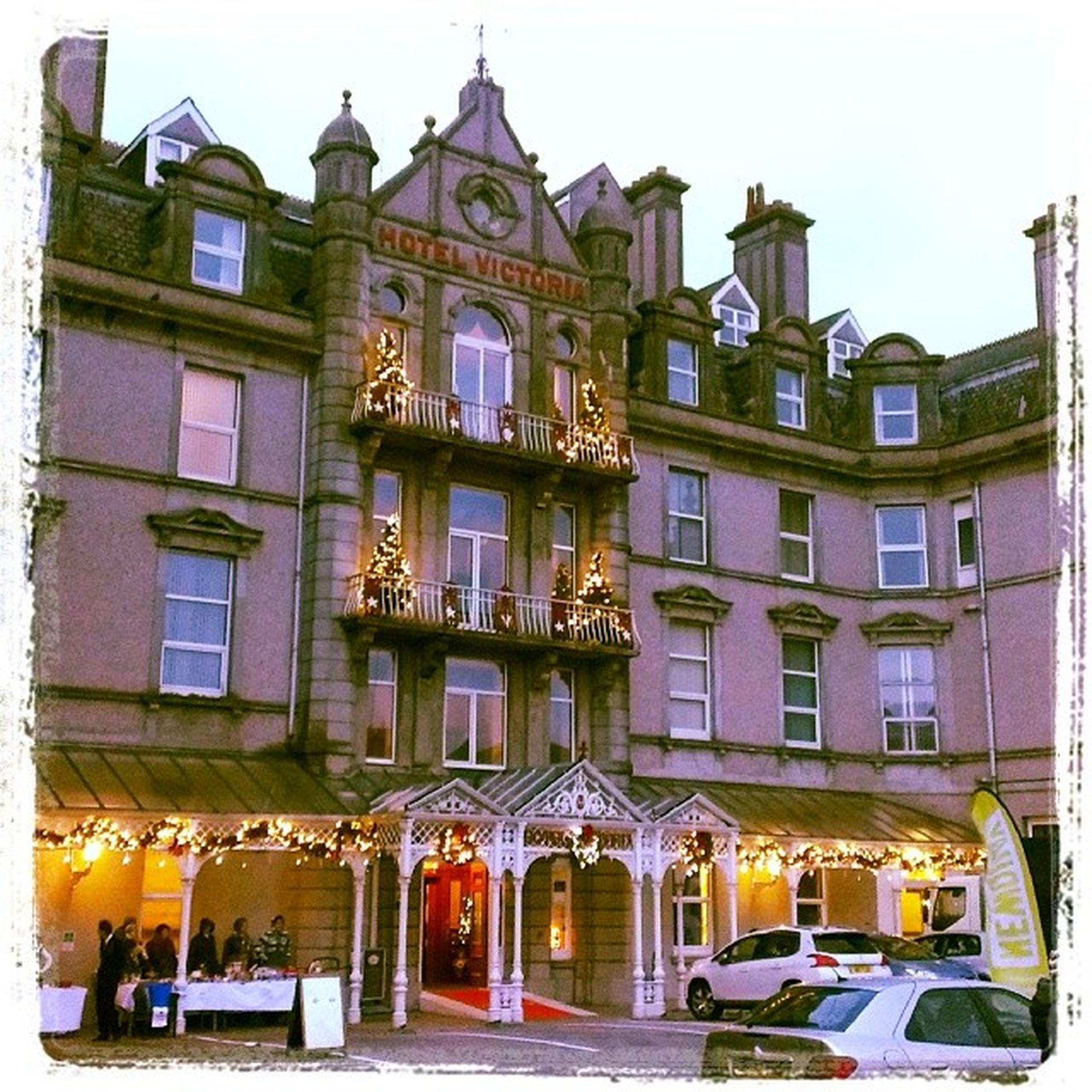 Xmas arrives to our hotel in Newquay
