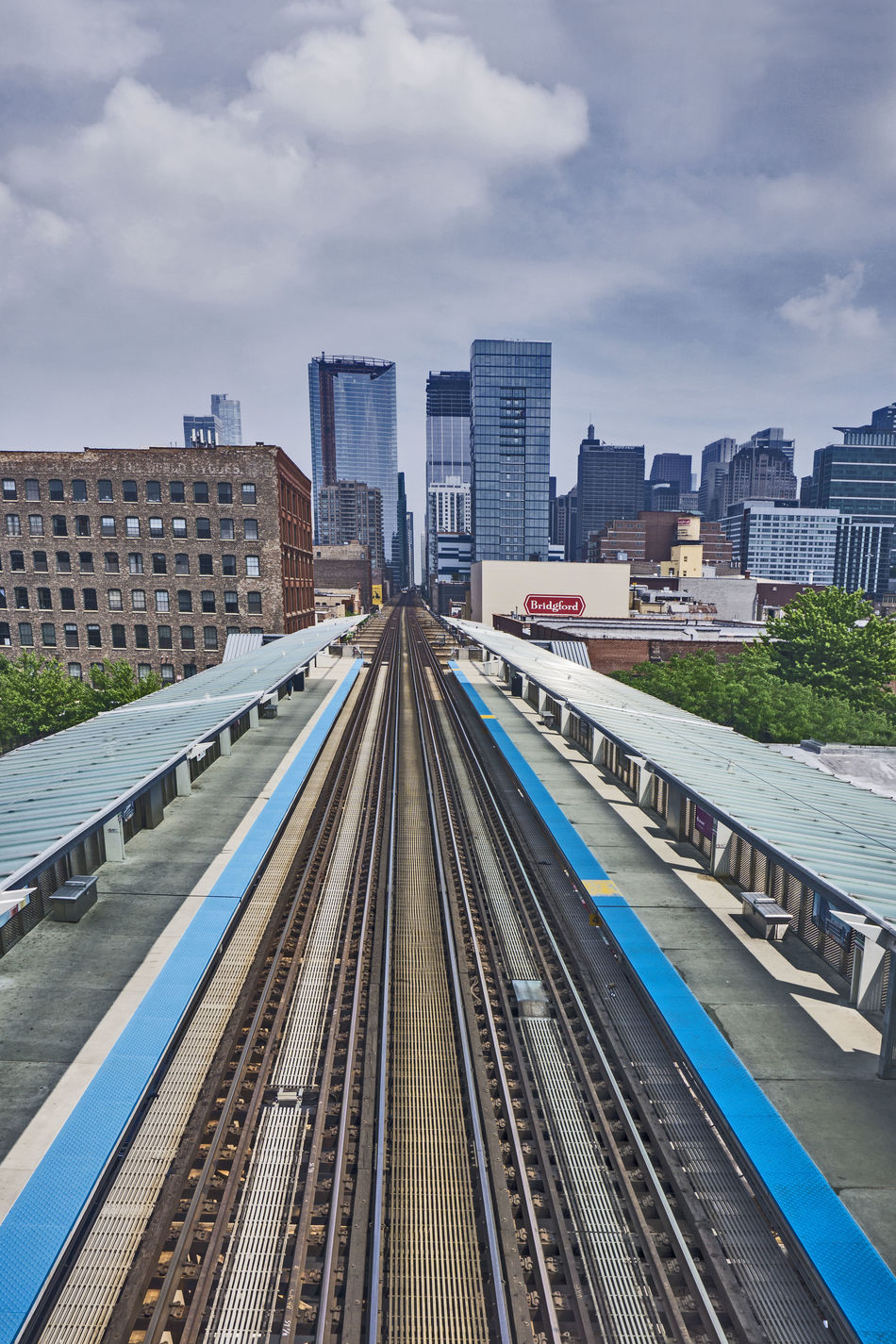Chicago Rail Lines Architecture Travel Sony A6000