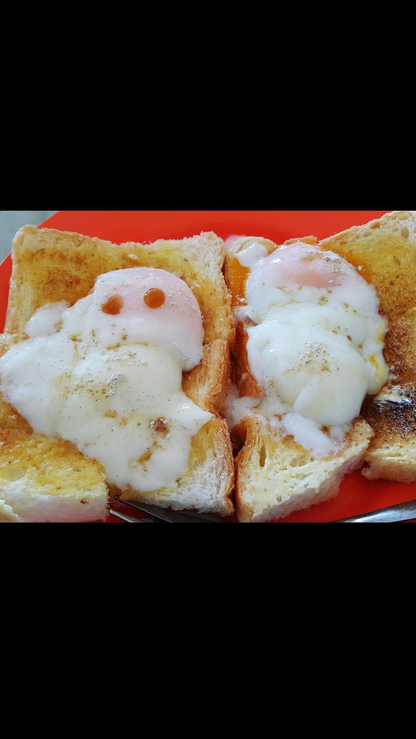 Having Breakfast Eggontoast Yummyinmytummy