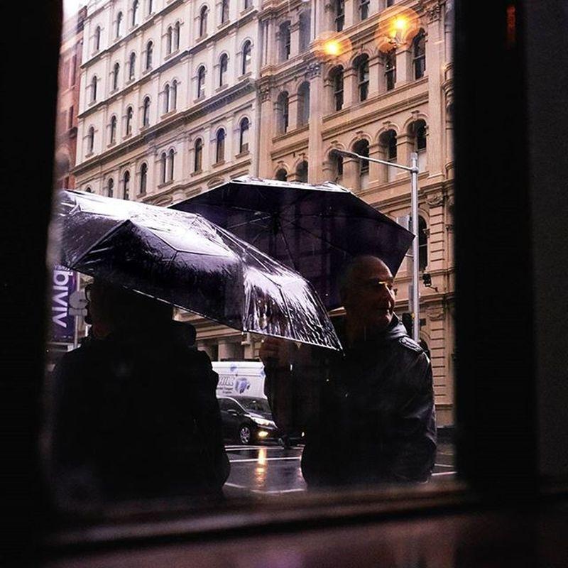 A view of rainy Sydney from the Forbes Hotel, cnr York and King streets, Sydney. Pub Sydney Rain Street Streetphotography Fujix_us Fujiholics Fujifeed Fujifilm_xseries Fujifilm Myfujifilm Umbrella Photography