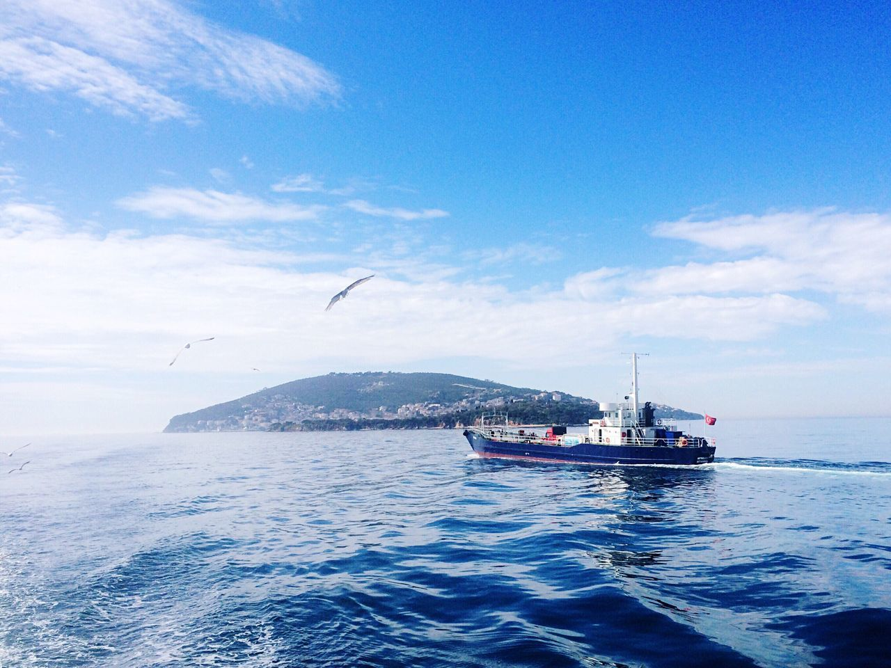 Sea Blue Nautical Vessel Water Transportation Sky Outdoors Beauty In Nature Nature No People Day Mermaid Princeislands Turkey ♡ Istanbul Island Beauty In Nature Scenics Mode Of Transport Cloud - Sky Nature EyeEmNewHere
