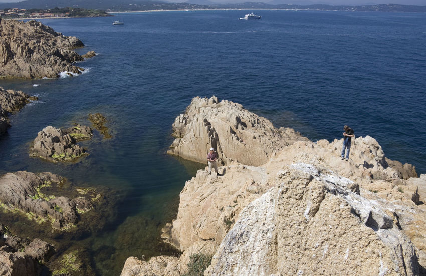 cliffs on cote d'azur - gulf of saint-tropez, French Riviera Beauty In Nature Cliff Coastline Côte D'Azur France Gulf Of Saint-tropez High Angle View Hiking Hiking Adventures Hikingadventures Landscape Landscape_Collection Landscape_photography Mediterranean Sea Nature Nautical Vessel People Provence Rock - Object Rock Climbing Rock Formation Rocky Coastline Saint-Tropez Sea Vacations
