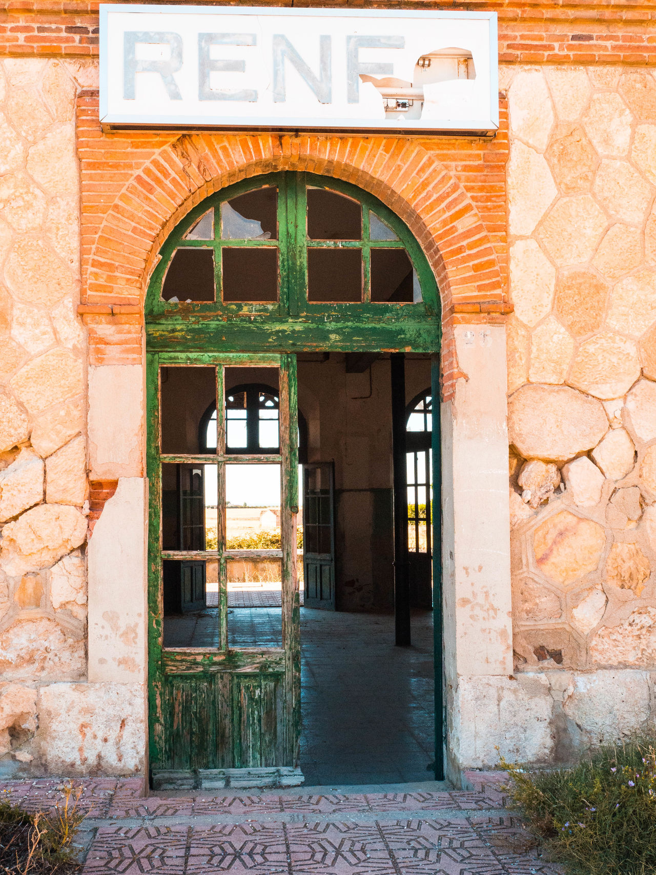 Architecture Building Exterior Built Structure Day Door Doorway Entrance Exit Sign No People Old Buildings Old Station Outdoors SPAIN