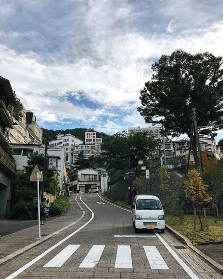 Tree Transportation Street Car Building Exterior Sky Road Architecture Cloud - Sky Outdoors Built Structure The Way Forward City Day Land Vehicle No People Japan