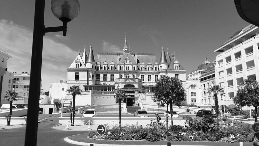Castle Casino Arcahon Old Town Outdoors History Voyage Black And White