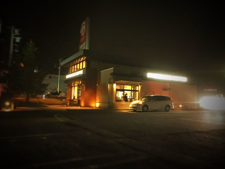 Nightphotography Darkness And Light Starbucks Starbucks Coffee Nightcafe Comfortable Drive Nightdrive Holiday Hello World