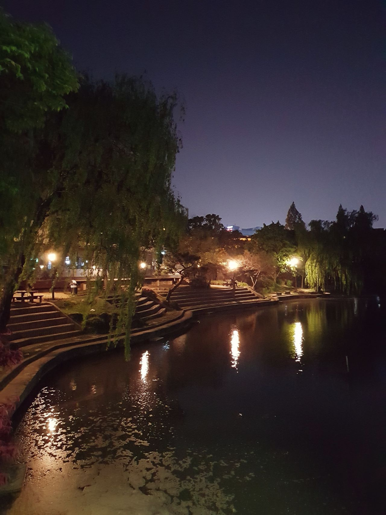 Gwangju Chonnam National University Night Lake Galaxy S8