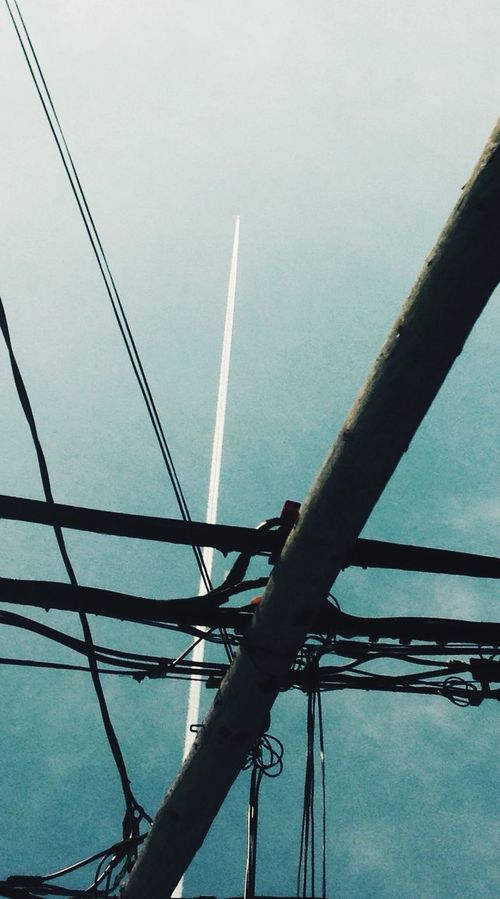 Freelance Life Clouds And Sky Jets Electric Power Lines Flying High