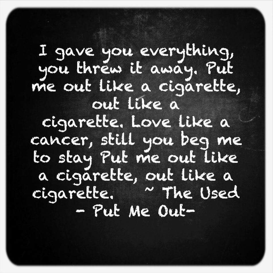 Im in an very morbid mood. The Used Lyrics