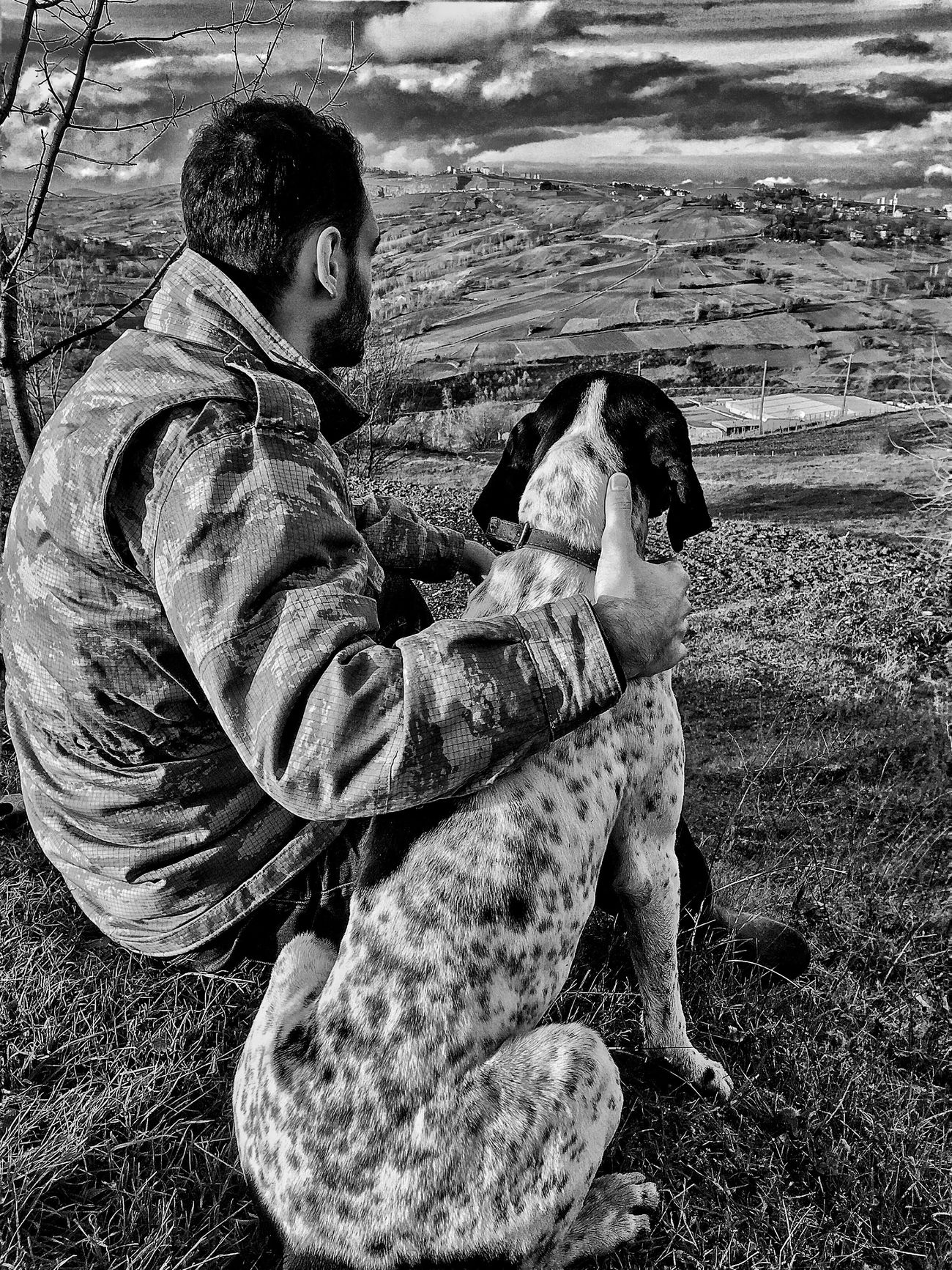 Real People Pets Lifestyles One Person Dog Animal Themes Bestfriend Dogfriends Alone Alone Time Blackandwhite Black And White Black & White Bestdogever