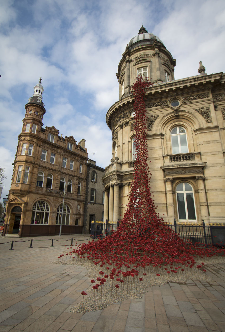 Architecture Building Exterior Built Structure City Clock Tower Cloud - Sky Day Hull 2017 Hull City Of Culture 2017 Maritime Museum Nature No People Poppies  Sky Tree