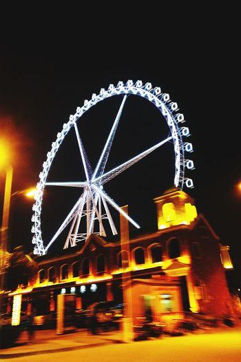 摩天轮 摩天轮 Amusement Park Amusement Park Ride Arts Culture And Entertainment Ferris Wheel Night Rollercoaster Illuminated