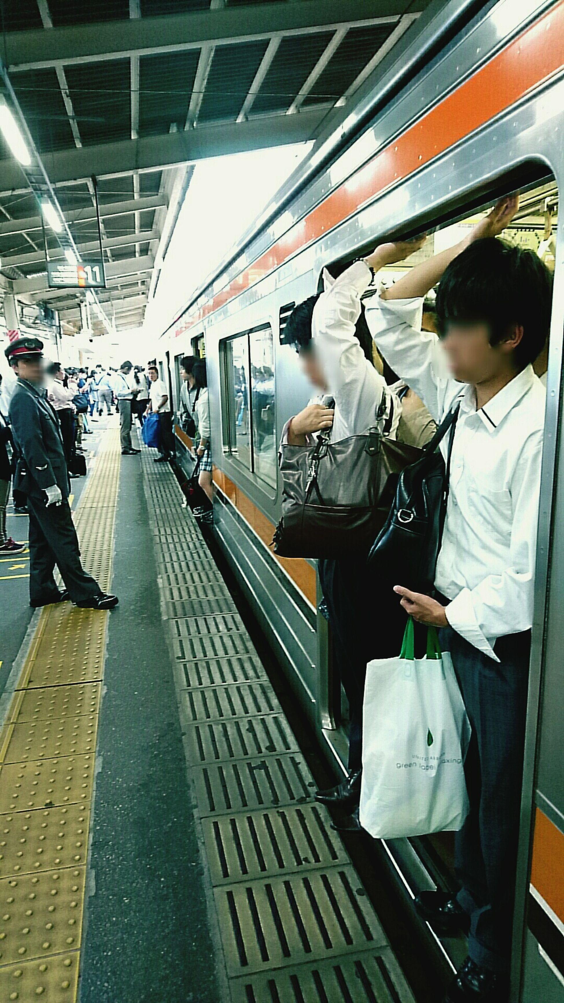 Rush Hour Tokyo,Japan Musashino-Line PusherCity Day City Life Nishi-Funabashi