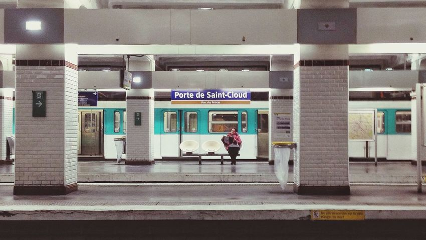Waiting. Train Station Metro Station Paris Metro Paris Shot With A IPhone People Waiting For A Train Streetphotography Urban Public Transportation Alone Empty Train Station Empty Lonely Loneliness Up Close Street Photography Embrace Urban Life Traveling Home For The Holidays