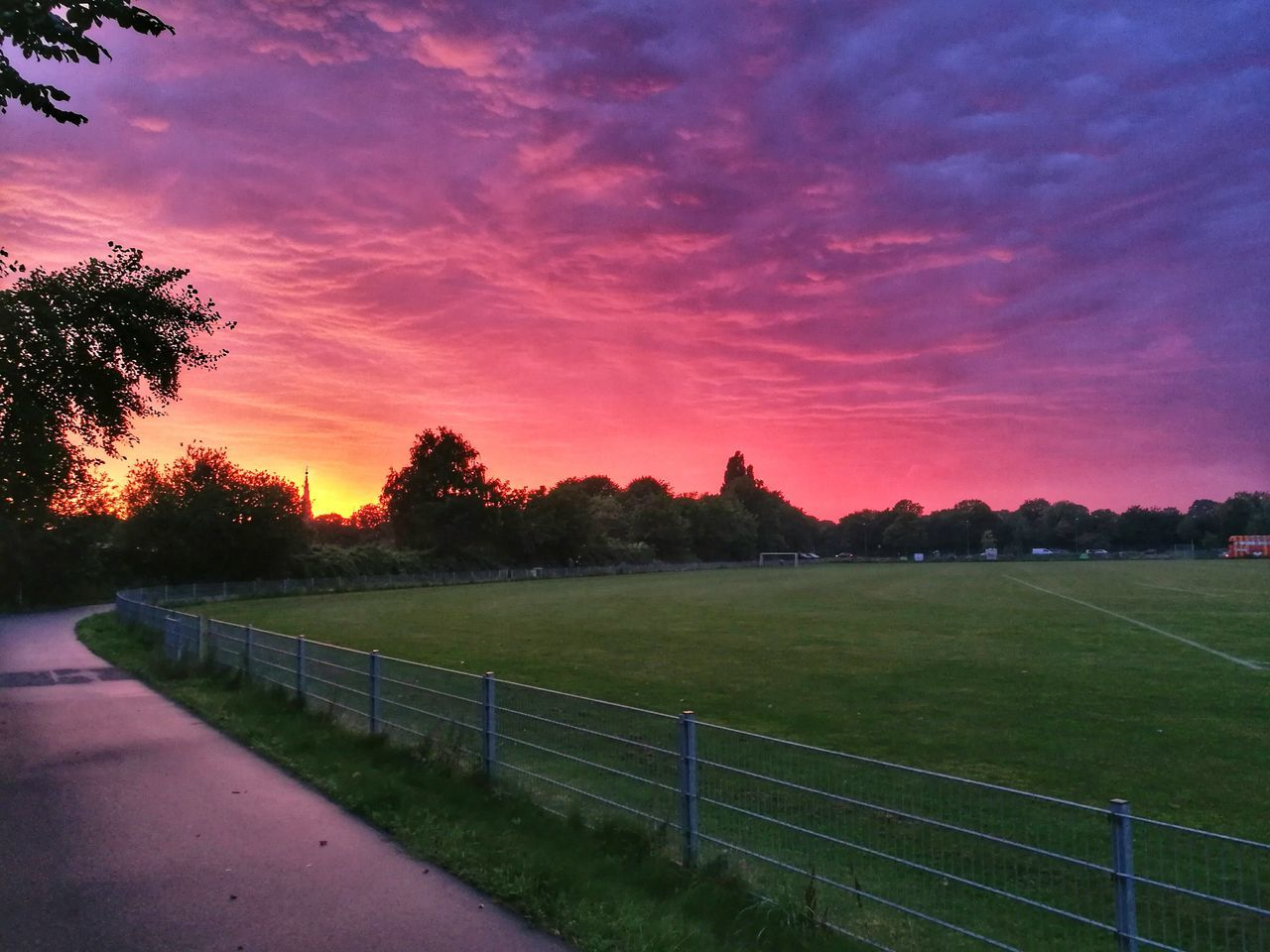 Heaven of Copenhagen Sunset Grass Sport Tree Cloud - Sky No People Sky Sports Venue OutdoorsCity Firesky Colorful Colors Colour Of Life Copenhagen Copenhagen, Denmark