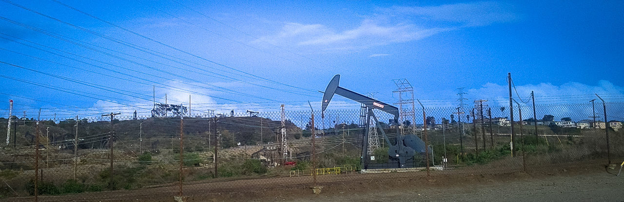 Built Structure Clear Sky Connection Day Development Engineering Environmental Conservation Fossil Fuels Low Angle View Metal Modern Oil Oilfield Outdoors Sky Technology