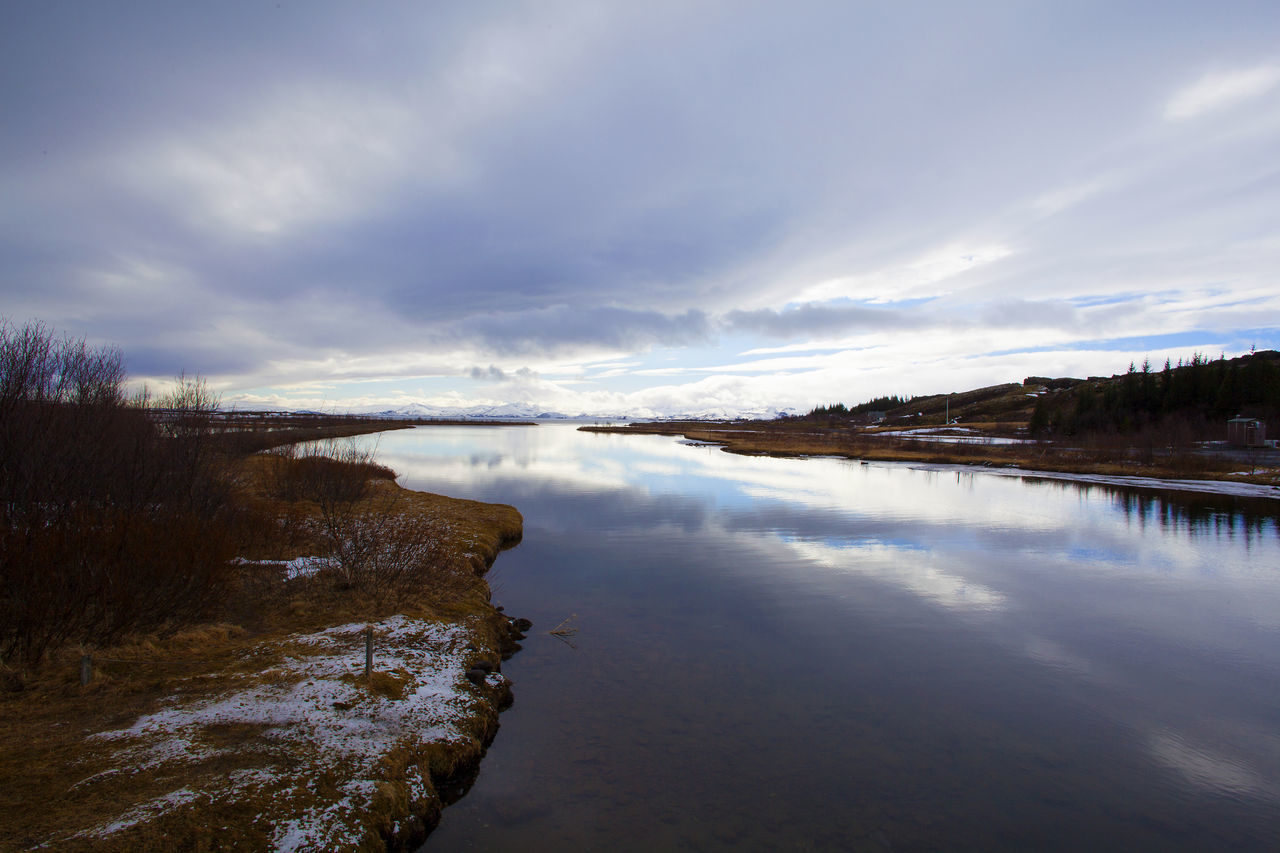 Beauty In Nature Cloud - Sky Day Iceland Landscape Nature Nature No People Outdoors Panorama Panorama View Pingvallavatn Pingvellir Reflection Scenics Sky Thingvellir National Park Travel Travel Destinations Travel Photography Water