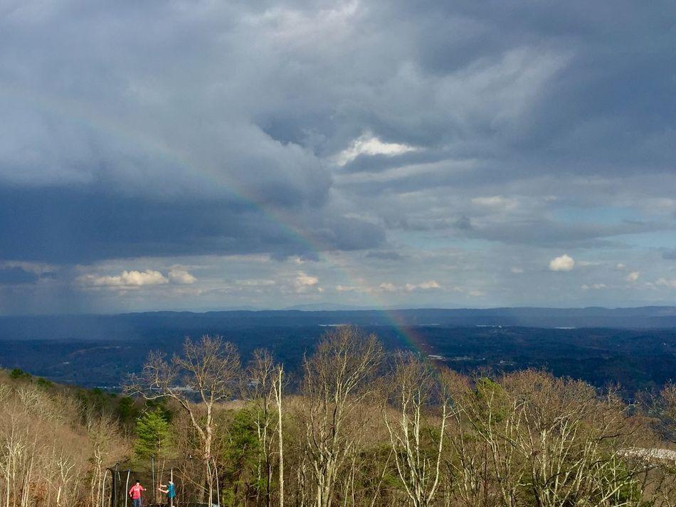 rainbow over Soddy Daisy Eyemtennessee Tennessee Rainbow EyeEm Nature Lover Eyeemweather Streamzoofamily IPhoneography Eyemphotography