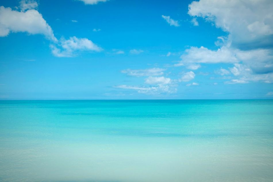 Shades of blue in Antigua Sea Blue Horizon Over Water Sky Cloud - Sky Beach Idyllic Scenics Sunlight Water Outdoors Tropical Climate Sand Vacations Travel Destinations No People Landscape Beauty In Nature Day Backgrounds EyeEm Best Shots Eye4photography  Open Edit Fresh 3 Sea Life