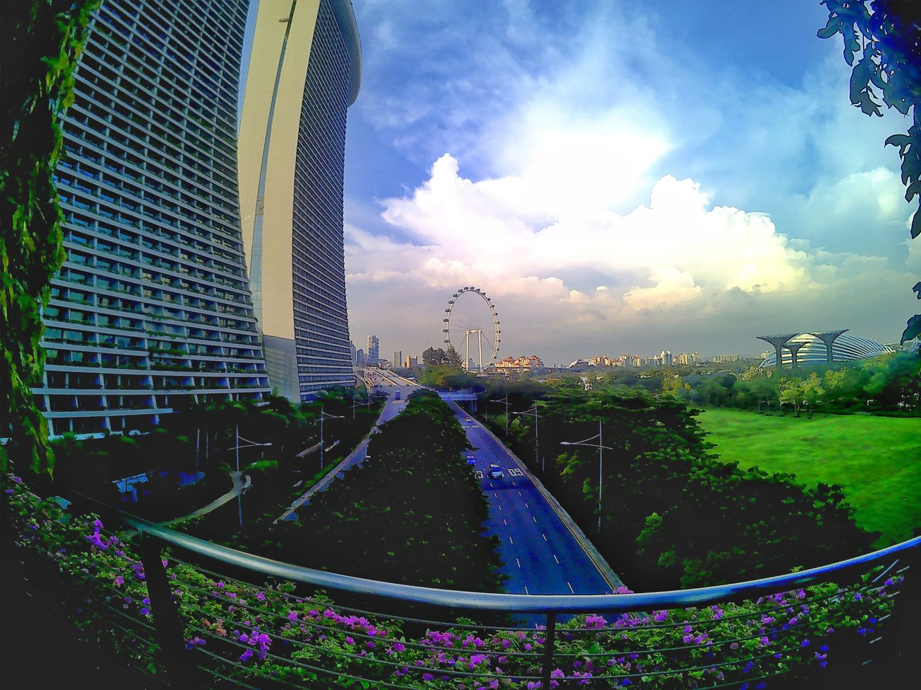 Cityscape Sky Cloud - Sky No People Architecture Outdoors Nature Travel Travelphotography Wide Shot Bpro5alpha Singapore Landscape Marina Bay Sands Urban Skyline Travel Photography Wide Open Spaces Scenery Blue Buildings & Sky Singapore City Singapore View Travel Destinations Singapore Flyer