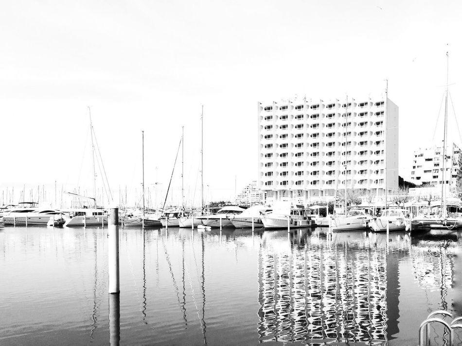 Bnw_friday_eyeemchallenge Bnw_reflection Water Harbor Building Exterior Bnw_collection Bnw_life Bnw_captures