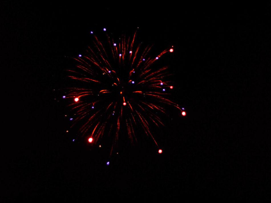 Dark Night Outdoors Pyrotechnic Sky