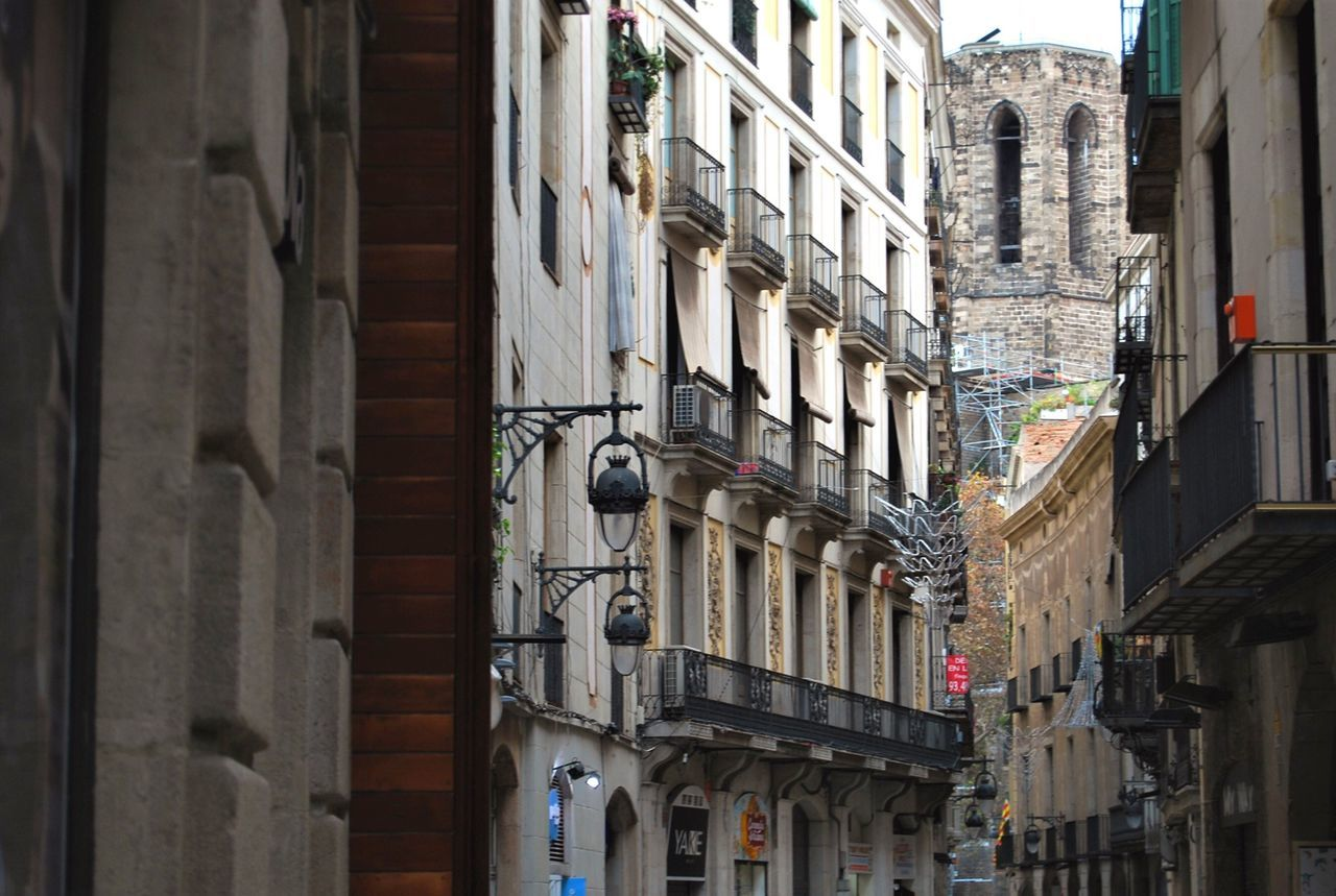Building Exterior Architecture Built Structure Window Low Angle View Outdoors Day City No People From My Point Of View Perspective Barcelona Cityscapes Old Buildings