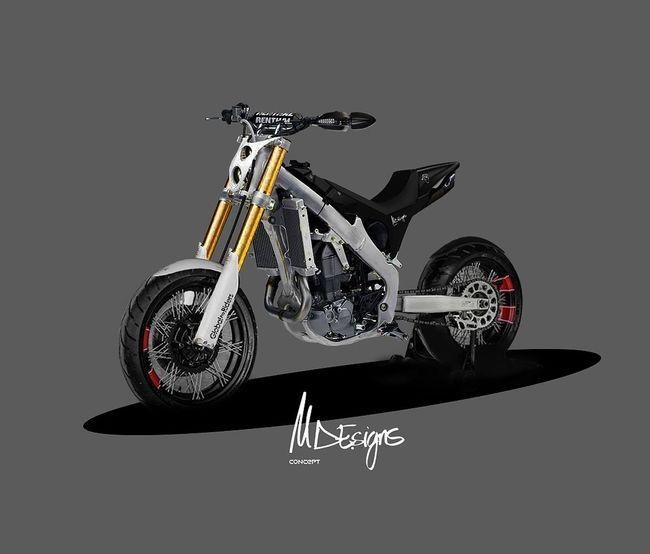 New design chasis Honda CRF+imagination. Motorcycle Own Style  Laklines Diseño Designer  Spain🇪🇸 Bikelife Biker One Person Riding Nature Sport