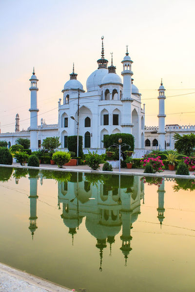 Reflection Water History Architecture Dome Travel Destinations No People Sky Outdoors Day Flower Lucknow Lucknowdiaries