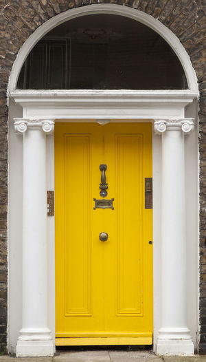 Dublin Individuality Ireland Old Fashioned Resistance  Wood Architecture Building Exterior Civil Day District Door English Entrance Gregorian Historical Law Medieval Neighborhood No People Outdoors Series Yellow
