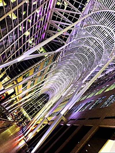 Canada White Structure Art Building Interior Design Architecture Light Night Nikon Color Visiting City City Life Lifestyles Winter Good Times Modern Abstract Downtown Fashiondistrict Modernism Futuristic Travel Destinations Modern Architecture