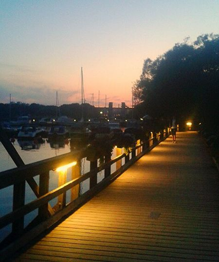 Summernight Sunsunset Årstabron Stockholm