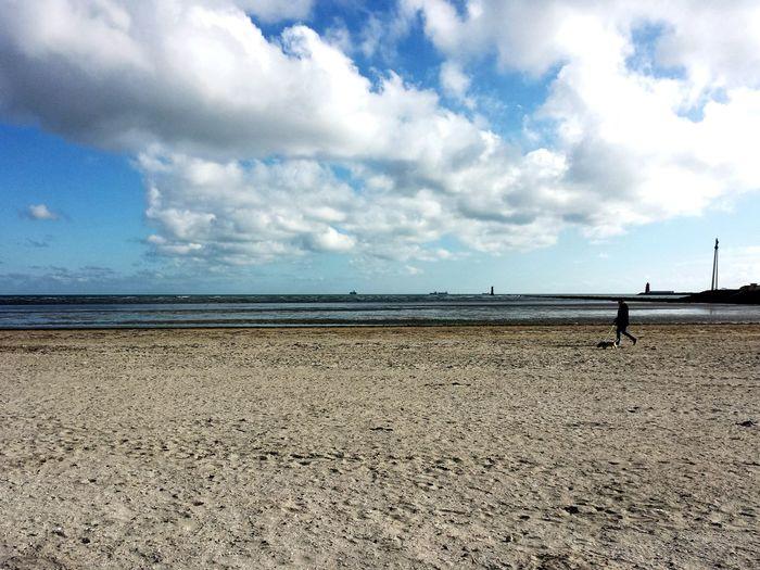 Sea Sea Beach Sand Horizon Over Water Cloud - Sky