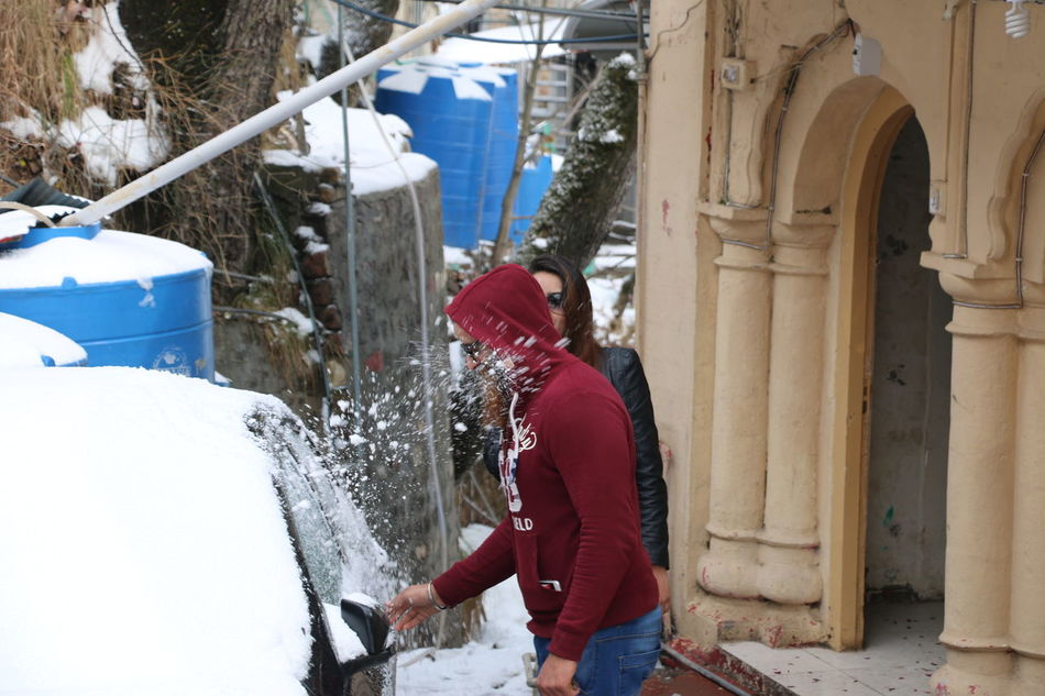 Adult Adults Only Architecture Built Structure Cold Temperature Day Leisure Activity Lifestyles Men Nature One Person Outdoors People Real People Side View Snow Snowfight Standing Warm Clothing Winter Kesha.faizi The Secret Spaces