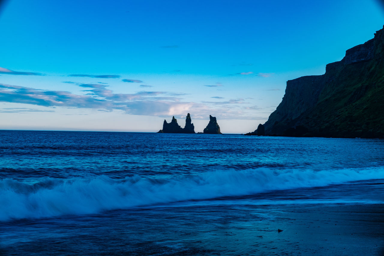 Iceland Vík í Mýrdal Beauty In Nature Day Horizon Over Water Nature No People Outdoors Scenics Sea Sky Sunset Tranquil Scene Tranquility Water Waterfront