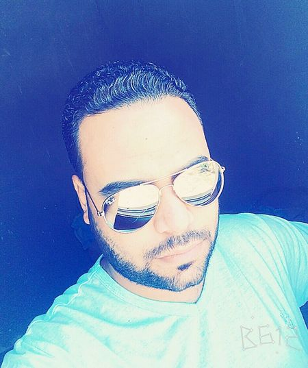 Egypt Egyptian Egyptian-Faces Maghagha Handsome Headshot Front View Lifestyles Auto Post Production Filter Young Men Sunglasses Leisure Activity Young Adult Close-up Person Casual Clothing Blue Exploration Sunny Human Face Fashionable Beauty Wael Well-dressed Alone