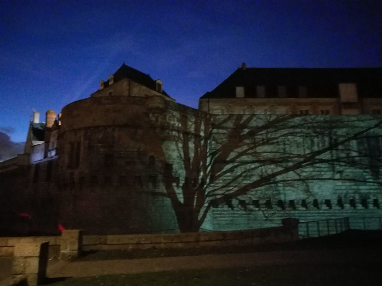 Nantes Architecture No People Sky Landscape Tranquil Scene Night Castel Popular Photos Outdoors Cloud - Sky CaptureTheMoment Shadows On The Wall