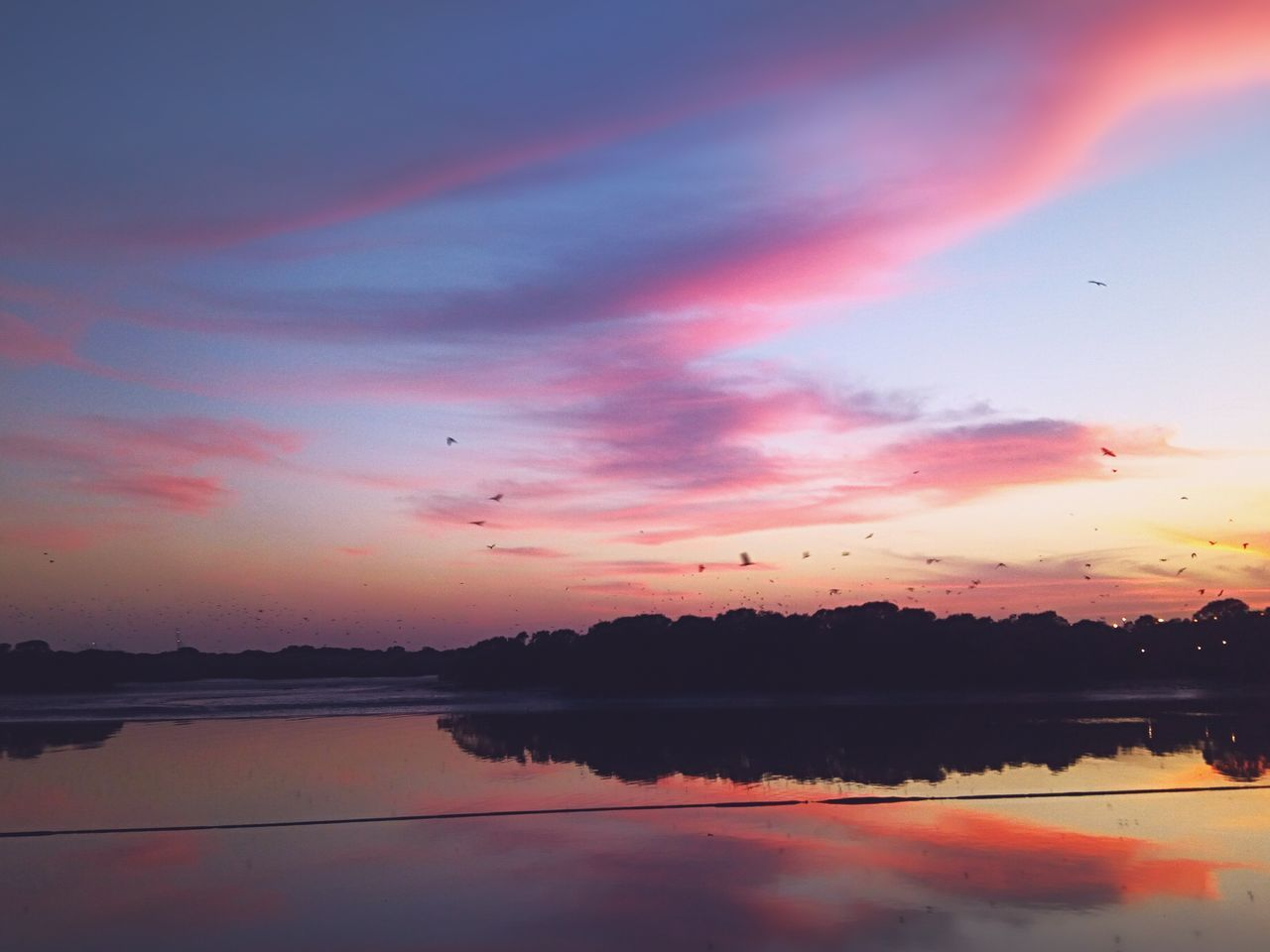 Sunset Reflection Water Nature Sky Outdoors Landscape Karachi Finding New Frontiers